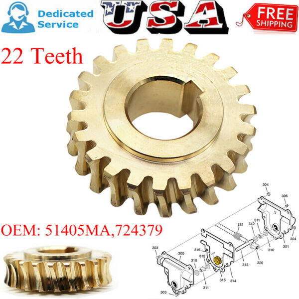 51405MA Worm Gear For Craftsman Snow Thrower Snow Thrower 2 Duel Stage 724379 US