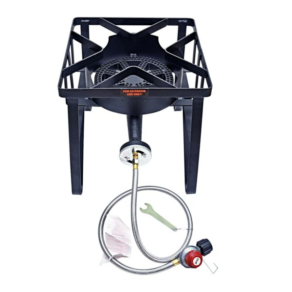 200000BTU Outdoor Camping High Pressure Burner Stove Propane Gas Cooker w Stand