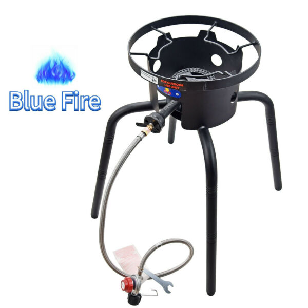 65000 BTU Outdoor Camping Adjustable High Pressure Propane Gas Burner Stove