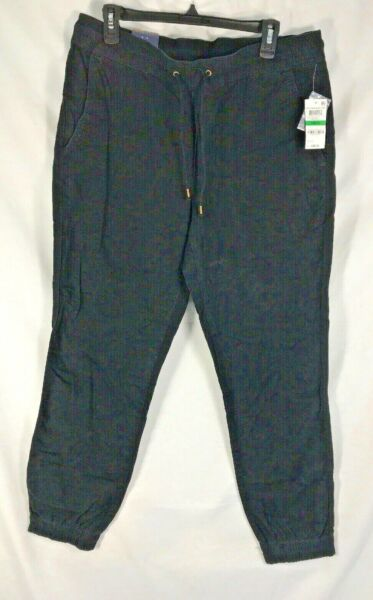 MENS JOGGERS AMERICAN RAG CIE Pants Sz Large cotton BLACK NWT CASUAL NEW