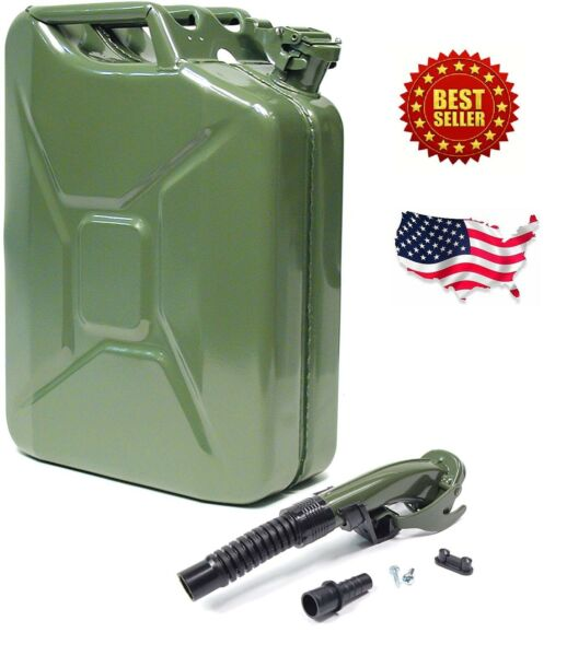 5 Gallon Gas Can Metal Jerry Gasoline Container Tank Emergency Backup Diesel New $39.99