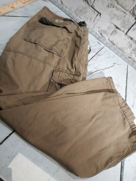 Mens American Eagle Cotton Cargo Pants Size 34x29 Brown