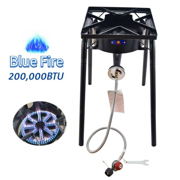 200000BTU Outdoor Camping Portable High Pressure Gas Burner Stove Cooker Square $95.99