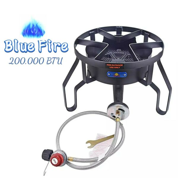 200000BTU High Pressure Cast Iron Camping Outdoor Propane Grill Burner Stove