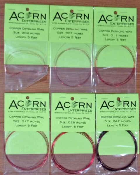 Model Detail Wire LIQUIDATION 75% OFF - Acorn Products - Six Sizes - 351 Pkgs