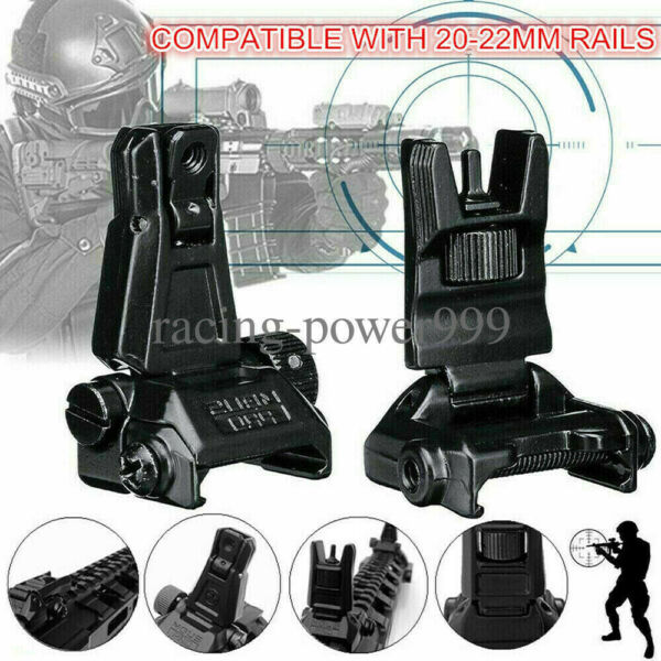 Low Profile Flip-up Metal Tactical Sight Folding Sights Front and Rear Set