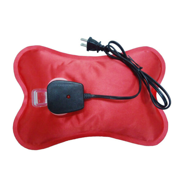 Happy Heat Electric Hot Water Bottle Cordless Rechargeable with Soft Cover Red $37.26