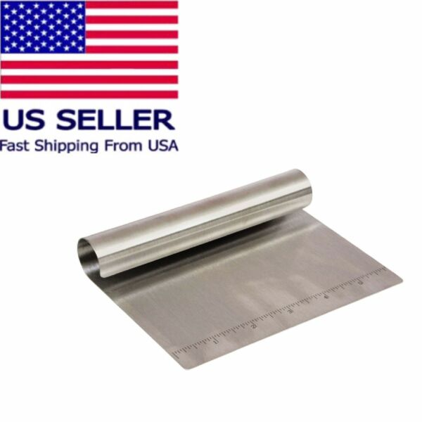 Stainless-Steel Bench Scraper-Chopper Dough Scooper With Ruler Cooking Concepts