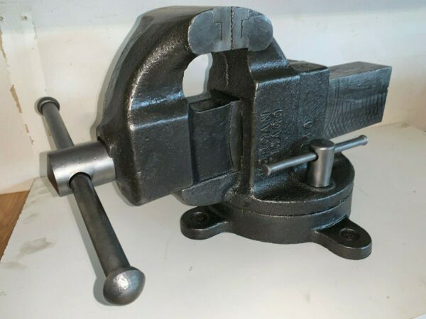 Extra Fine! Restored Vintage Morgan Chicago Vise No 140 53lb Swivel Bench Anvil