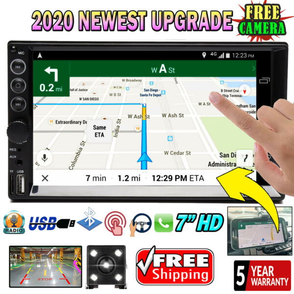 For Toyota Tacoma Sienna Tundra 2 Din Car Stereo Radio BT Touch Screen