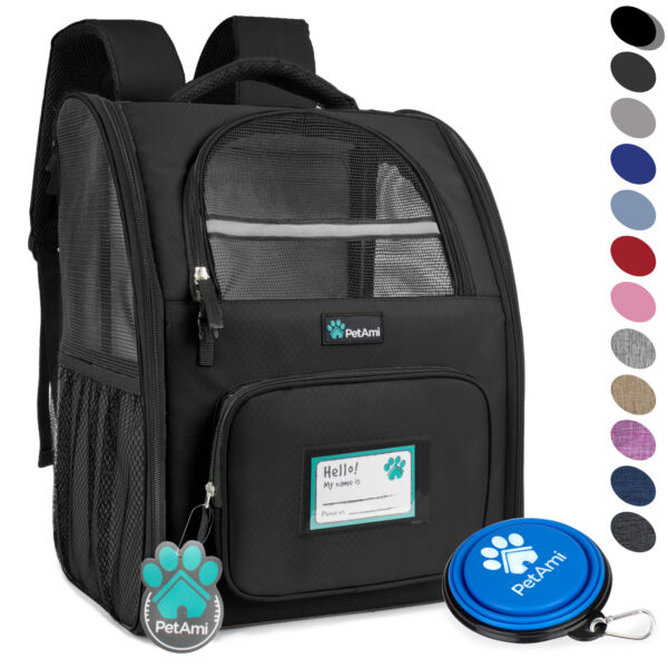 Pet Carrier Backpack for Cat Small Dog Travel Hiking Airline Approved Breathable $39.99