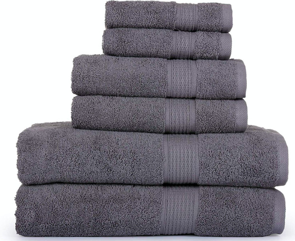SPRINGFIELD LINEN 6 Piece Towels Set 2 BATH TOWEL 2 HAND TOWEL AND 2 WASHCLOTHS
