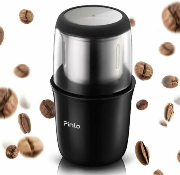 Electric Coffee Grinder Portable with Stainless Steel Blade Removable Up to 12
