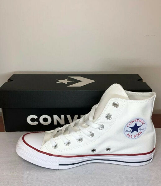 Converse Unisex Chuck Taylor All Star High Top Optical White Sneaker Shoes M7650