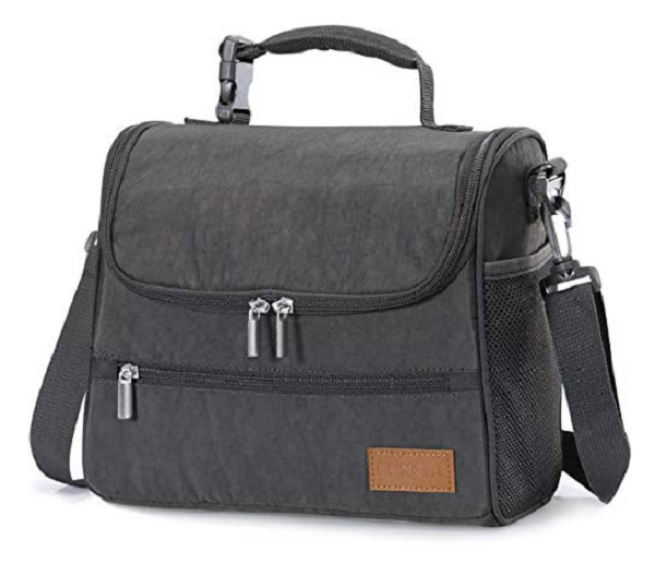 Lunch Bag Leakproof Lunch Box Cooler with Shoulder Strap for School Work Office