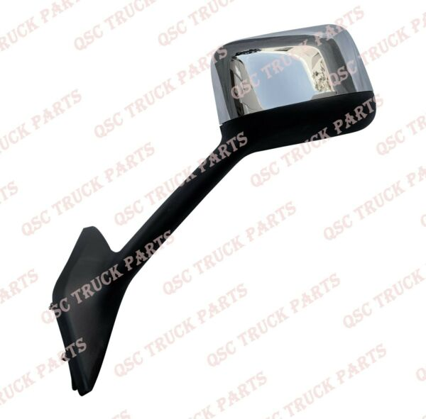 QSC Chrome Hood Mirror Left Driver Side for International LT625 Trucks
