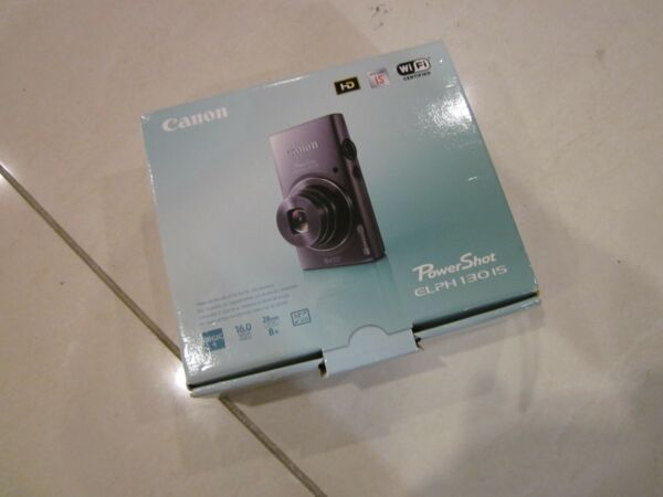 CANON POWERSHOT 130 IS DIGITAL CAMERA WI-FI 16MP COMPLETE IN BOX