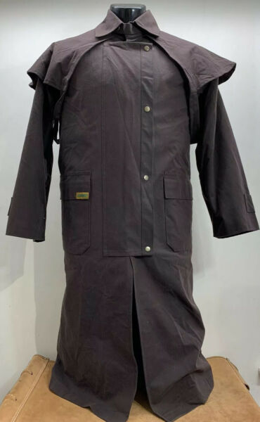 New Down Under Saddle Supply Premium Oilskin Coat Men's XS Barbour Inspired