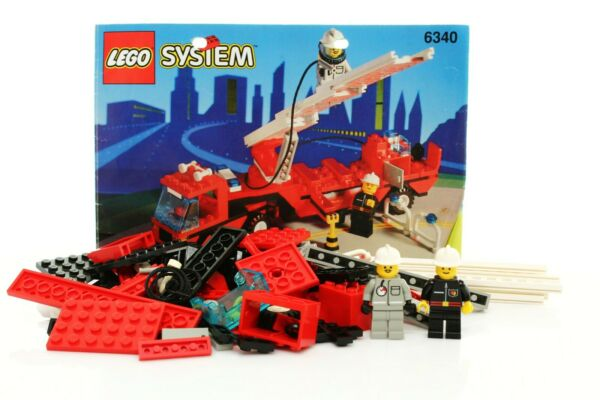 Lego Classic Town Fire Set 6340 Hook amp; Ladder 100% complete instructions 1994