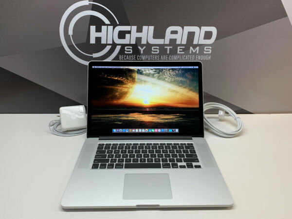 MACBOOK PRO 15 RETINA 3.2GHz i7 16GB RAM 2TB SSD WARRANTY OS 2018