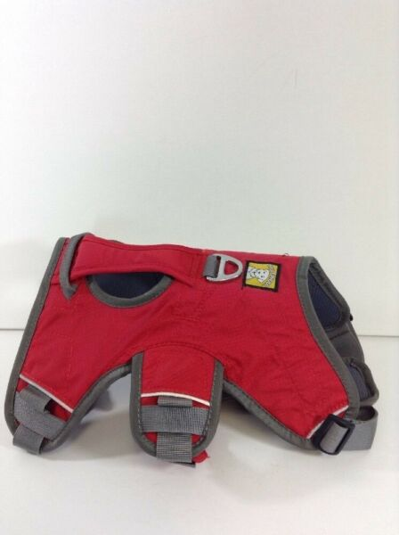 NEW Ruffwear Performance Dog Gear Red amp; Gray Size S 22 27 lin With Handle $60.00