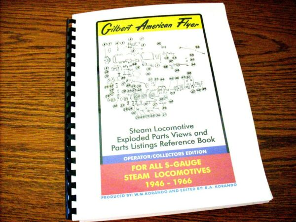 Gilbert American Flyer - Steam Locomotive Exploded Parts Views Reference Book $30.00