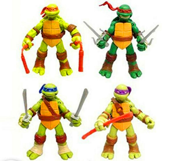 Teenage Mutant Ninja Turtles Classic Collection TMNT 4 Pc Action Figures Toys