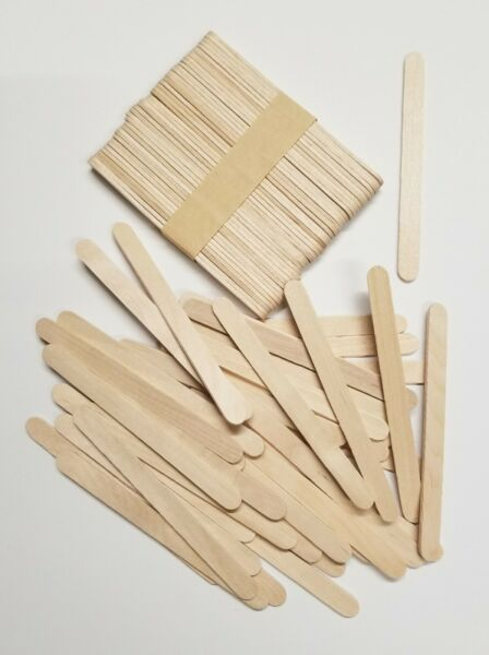200 Pieces Wood Sticks Natural Wooden Craft Sticks Popsicle 4-12