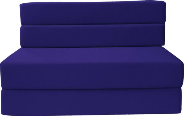 Twin Folding Foam Mattresses Sofa Beds Chairs Couches Ottoman Royal Blue