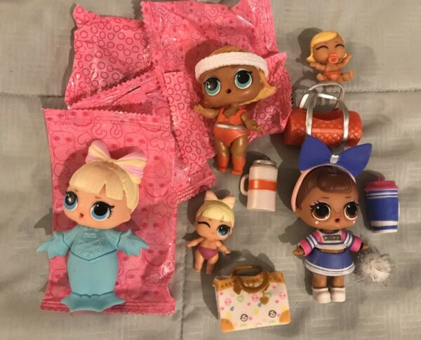 LOL Doll Lot Suit Princess & Lil Boogie Babe & Lil Sis Cheer