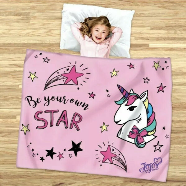 JoJo Siwa Be Your Own Star 2-in-1 Slumber & Cozy Cover Blanket Sleeping Bag