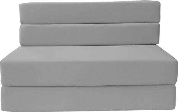 Full Size Folding Foam Mattresses Sofa Beds Chairs Couches Ottoman Gray
