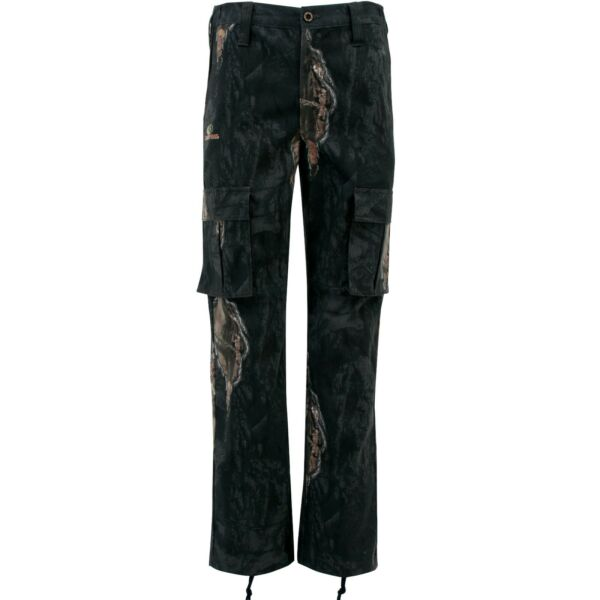 Mossy Oak Men#x27;s Hunting Camo Cargo Pants Eclipse Side Elastic Waistband Outdoors