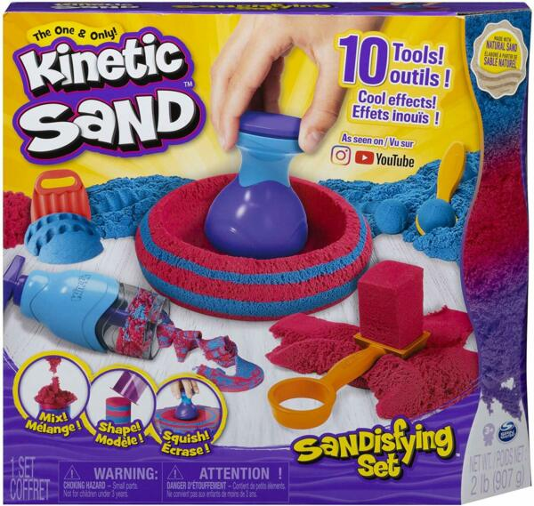 Kinetic Sand Sandisfying Set with 2lbs of Sand & 10 Tools for Kids Aged 3 & Up