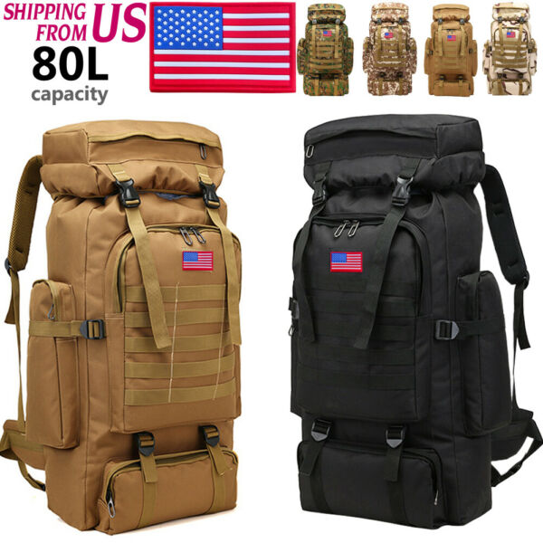 35L 80L Outdoor Military Camping Hiking Trekking Backpack Rucksacks Tactical Bag