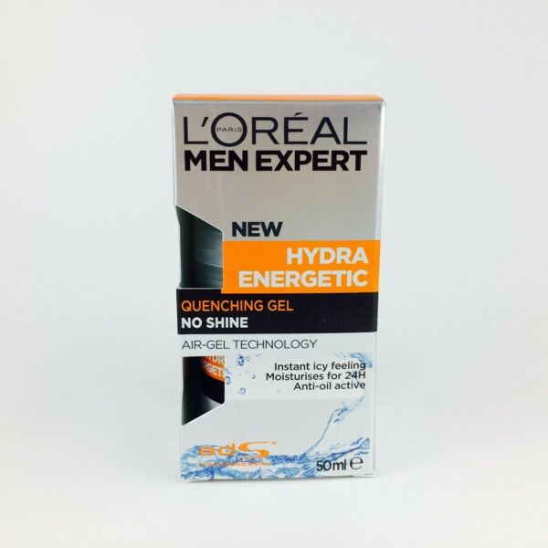 Loreal Men Expert Hydra Energetic Quenching Gel No Shine 50ml BNIB