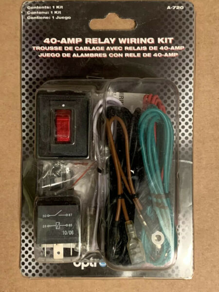Wiring Harness Kit 12V 40A Relay ON OFF Switch ALL Auxiliary Lights A 720