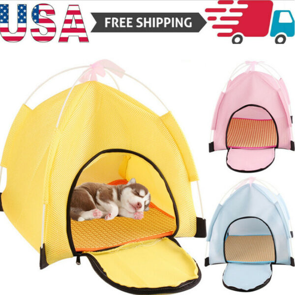 US Foldable Pet Tent Dog Cat House Outdoor Indoor Tent for Cat Small Dog Puppy $16.99
