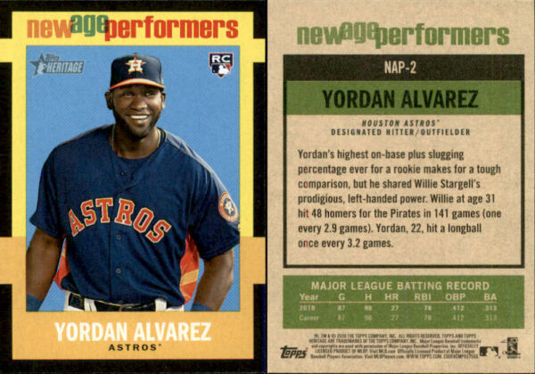 2020 Topps Heritage New Age Performers Card Complete Your Set U Pick FREE SHIP!!