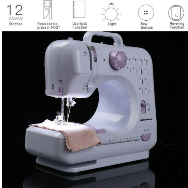 Electric Desktop Sewing Machine 12 Stitches Household Tailor 2 Speed Xmas USA $49.90