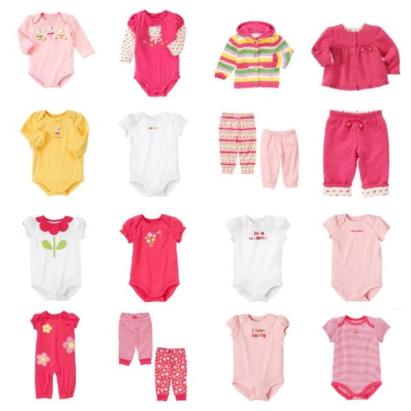 NWT GYMBOREE New Born Baby Girls Tee Bodysuit Outfit Premiere Cute!