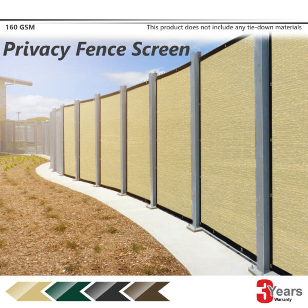 4' 5' 6' 8' Tall Brown Green Black Beige Construction Site Privacy Fence Screen