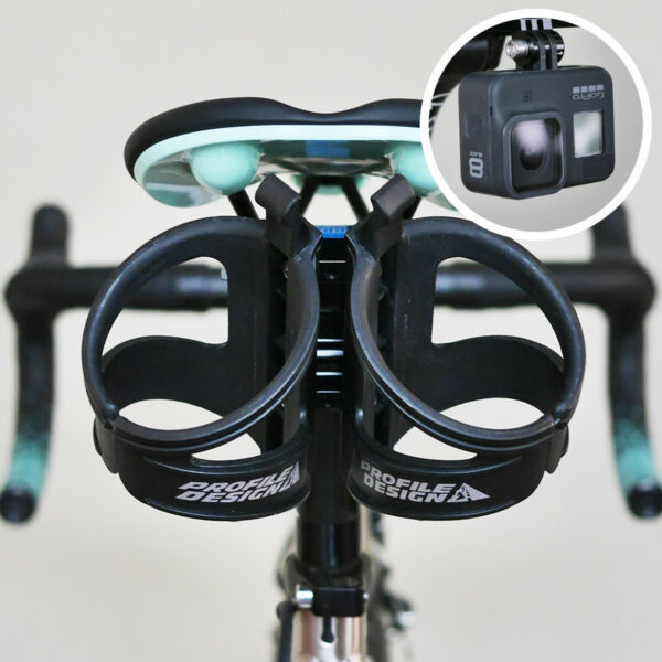 Profile Design Saddle Mount Water Bottle Cages Rear Carrier System Triathlon TWO $35.50