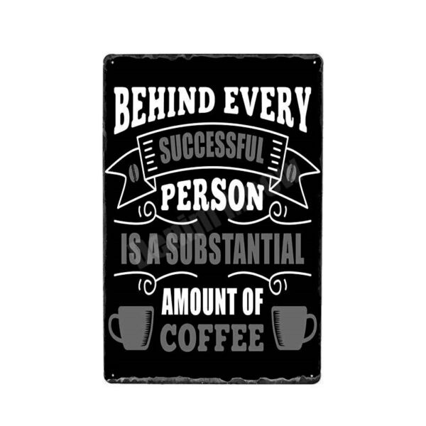 Coffee Tin Sign 8quot;x12quot; Decoration Plaque Metal Amount Of Coffee