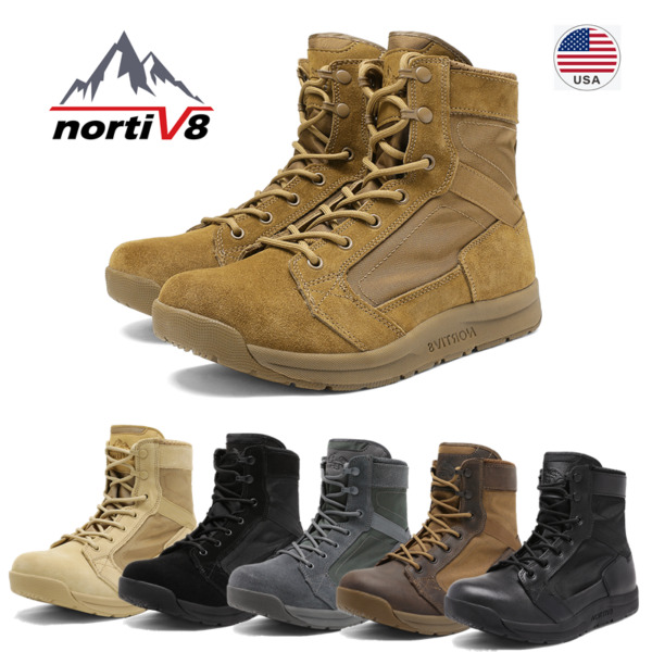 NORTIV 8 Men#x27;s Military Tactical Combat Army Boots Lightweight Hiking Work Boots