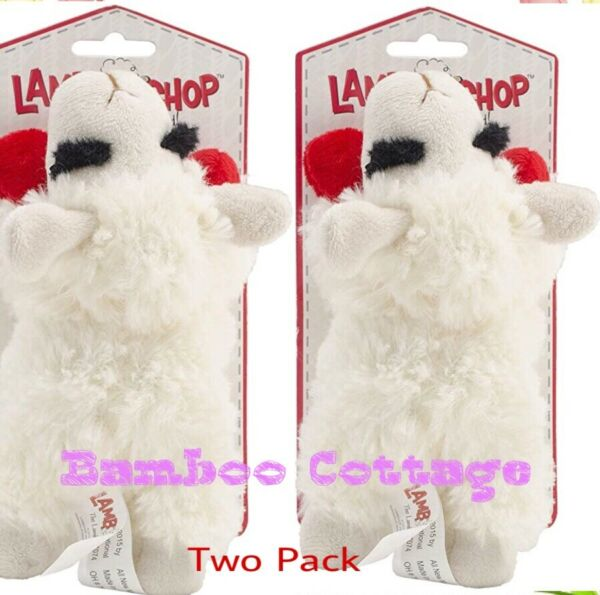 Multipet Lamb Chop Dog Toy Plush & Squeak Toys Mini TWO PACK  $13.97