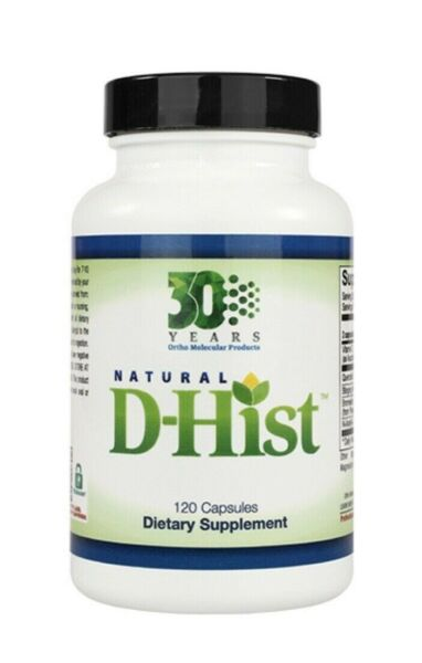 SHIPS TODAY ! Natural D-Hist Ortho Molecular Product 120 capsules IMMUNE SUPPORT