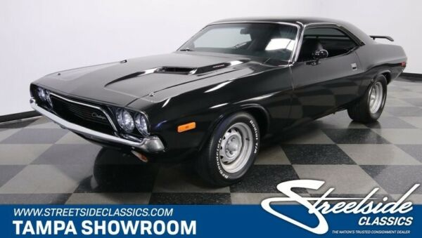 1972 Dodge Challenger  BLACK VINYL WRAP OVER SHOW QUALITY PAINT 512 STROKER V8 A727 DISCS COLD AC