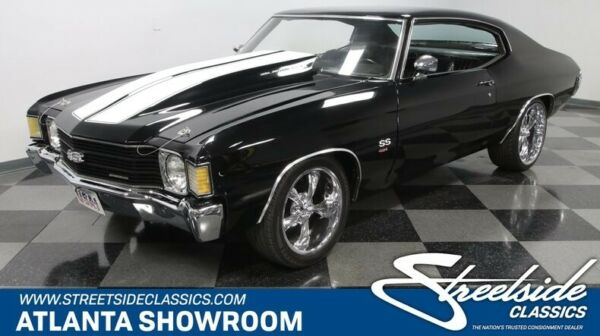 1972 Chevrolet Chevelle SS 454 Tribute classic vintage chrome black vinyl interior white stripes Flowmaster Grant Hurst