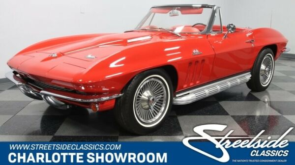 1966 Chevrolet Corvette L72 427 classic vintage chrome side pipes red vinyl interior chevy vette bbc manual